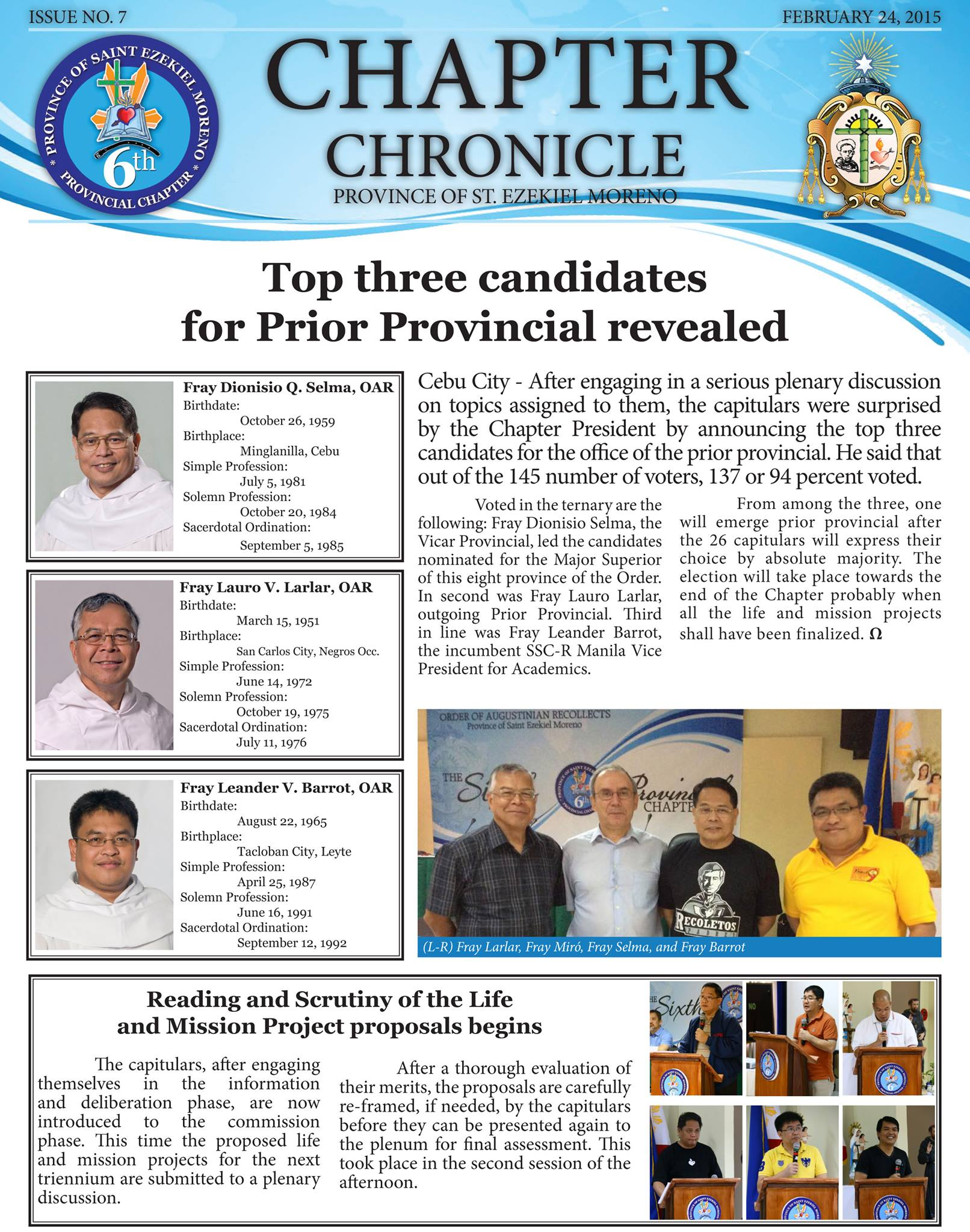6th Provincial Chapter – Agustinos Recoletos