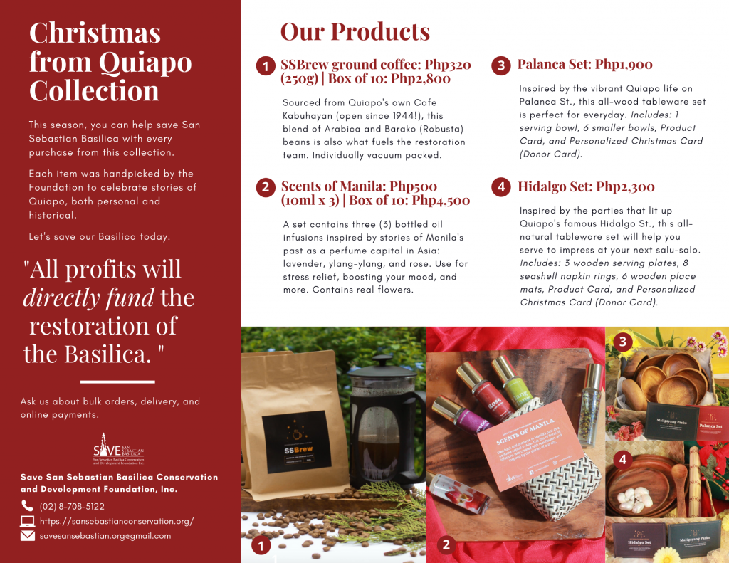 2019 Christmas from Quiapo Brochure