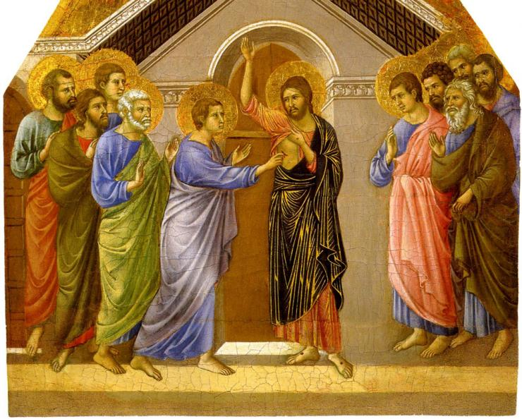 2nd-Sunday-of-Easter--The-Maesta-Altarpiece-The-Incredulity-of-Saint-Thomas-1461_Duccio