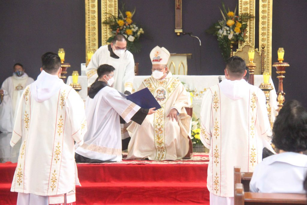 The candidates were presented to the ordaining prelate during the ordination rite.